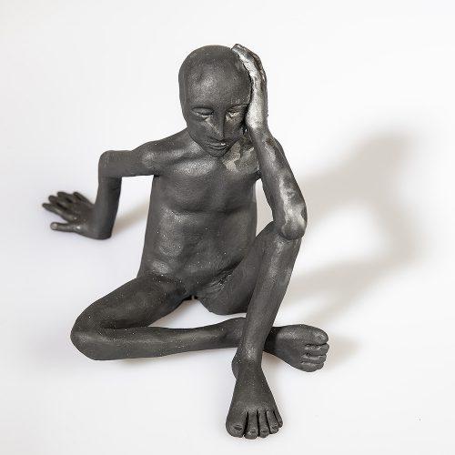 11 x 16 x 10 cm svartbränning