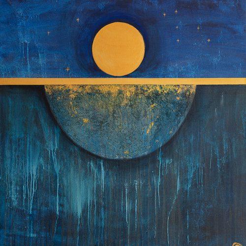 Vedic art  Akryl 90 x 100 cm