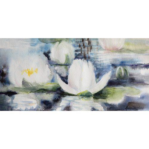 Akvarell 24 x 50 cm
