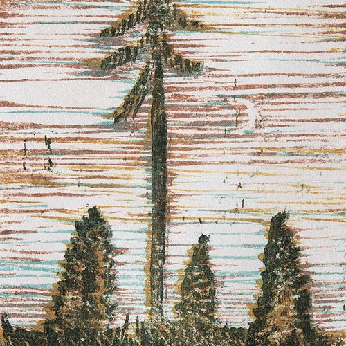 Träsnitt 12 x 8 cm