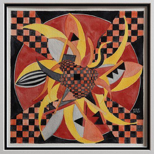 Akvarell 33 x 34 cm