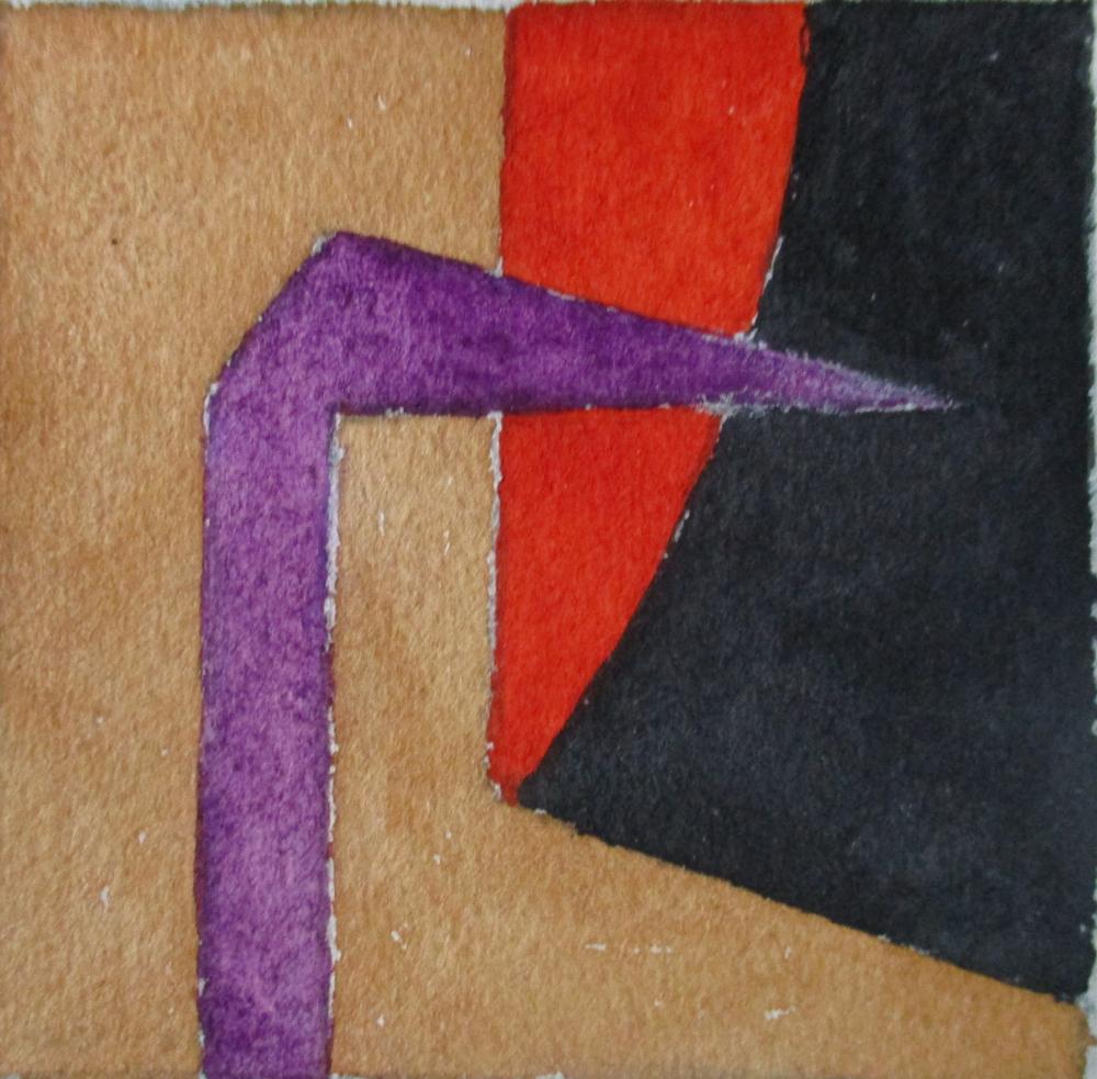7 x 7 cm Akvarell