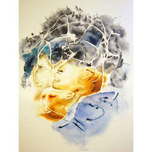 60 x 80 cm Akvarell