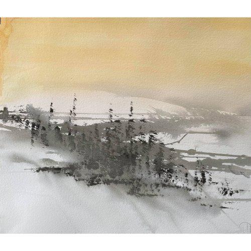 Akvarell 77 x 58 cm