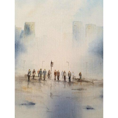 Akvarell 27 x 35 cm
