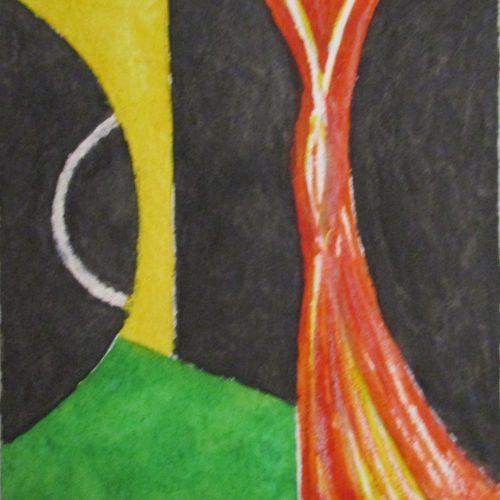 8 x 7 cm Akvarell