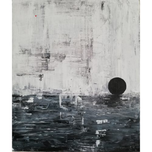 Akrylfärg 60 x 60 cm Pris: 3500 kr