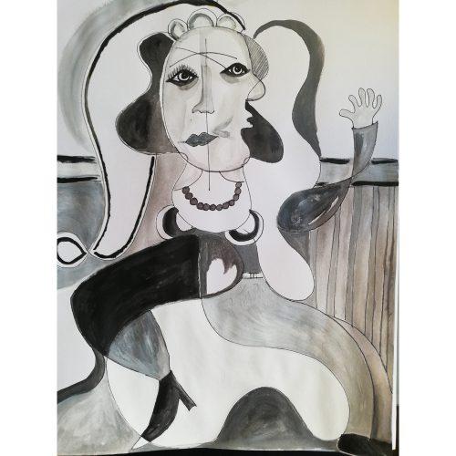 Akrylfärg 30 x 40 cm Pris: 1500 kr