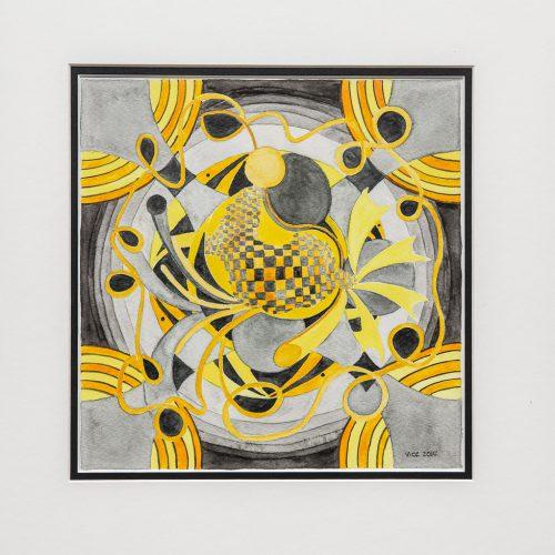 Akvarell 33 x 33 cm