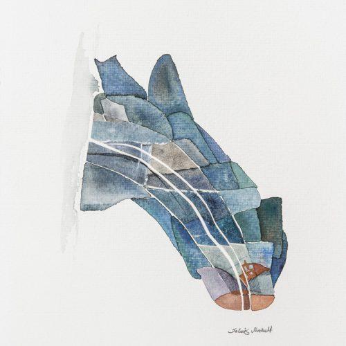 Akvarell kollage 26 x 20 cm