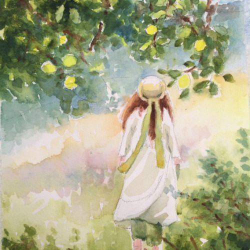 25 X 23 cm Akvarell