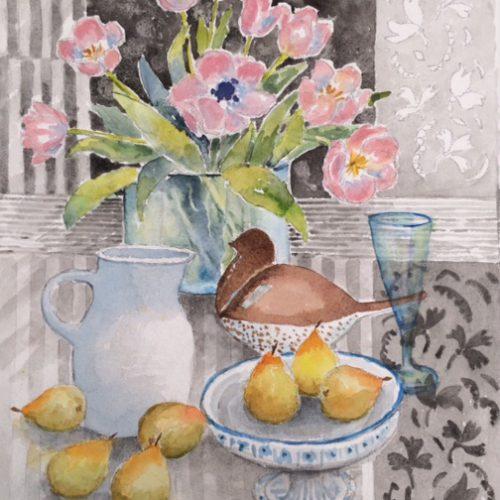 46 X 36 cm Akvarell