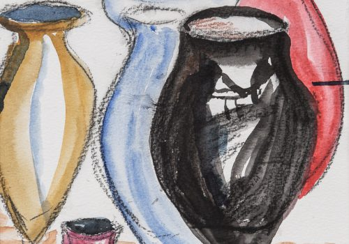 Akvarell 27 x 31 cm