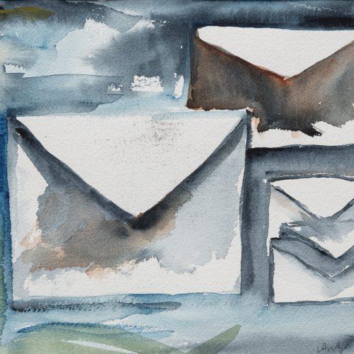 Akvarell 34 x 31 cm