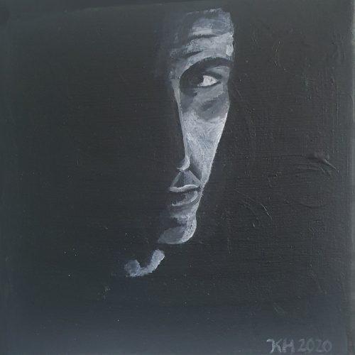 Akryl på canvas 20 x 20 cm