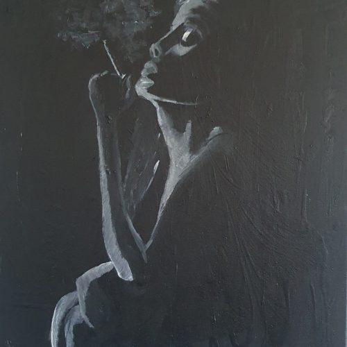 Akryl på canvas 40 x 30 cm
