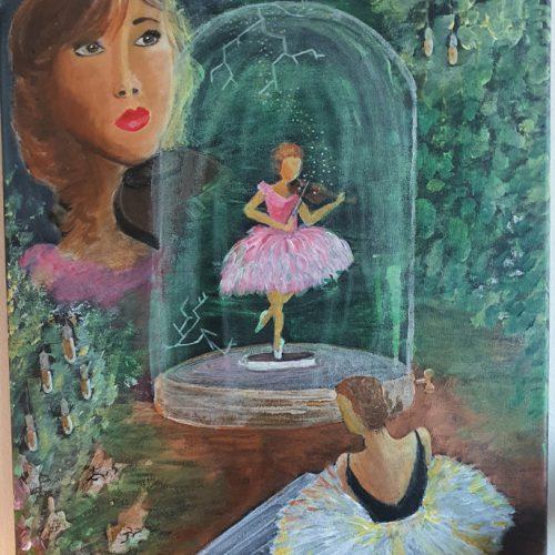 Akryl på canvas 60 x 40 cm