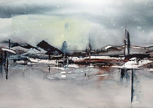 Akvarell 28 x 76 cm