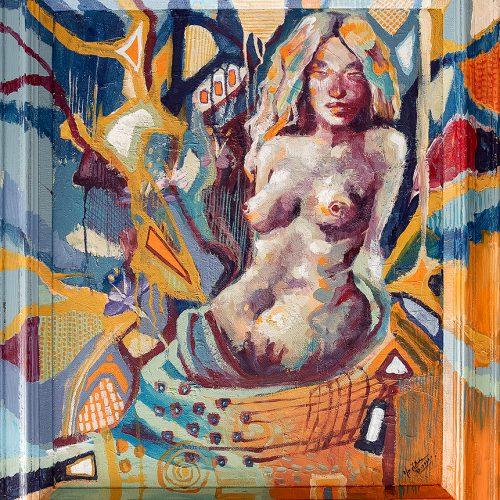 Akryl 75 x 63 cm