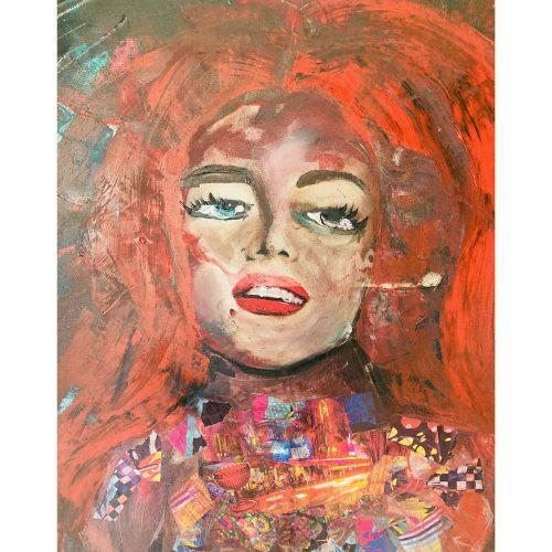 40 x 40 cm Akryl och collage